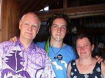 Jan, Anders och Ebba Åslund i Bengtsheden Falun