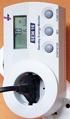 El- och energimätare för mätning av elapparaters förbrukning.