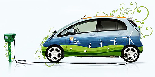 Falu Energi & Vatten AB har nu 5 Mitsubishi i-MiEV, en fyrsitsig elbil.