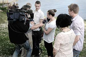 GävleDala-Nytt sände från KlimatPiraternas avslutning på Främby Udde