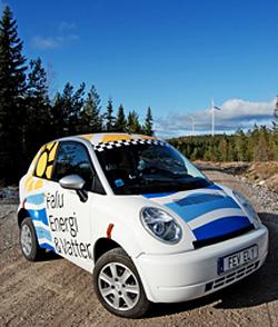 Falu Energi & Vatten AB:s elbil, en Think City